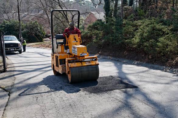 Compact the asphalt adequately