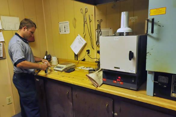GemSeal Technician Testing RT-12 Material