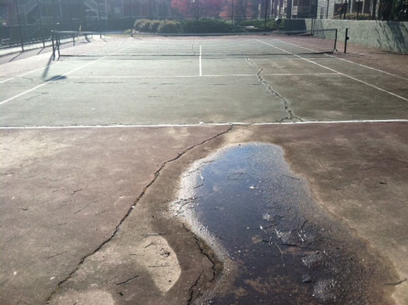 Tennis Court Before