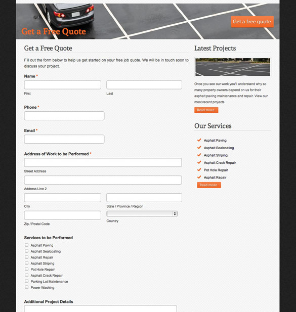 Free Quote Form