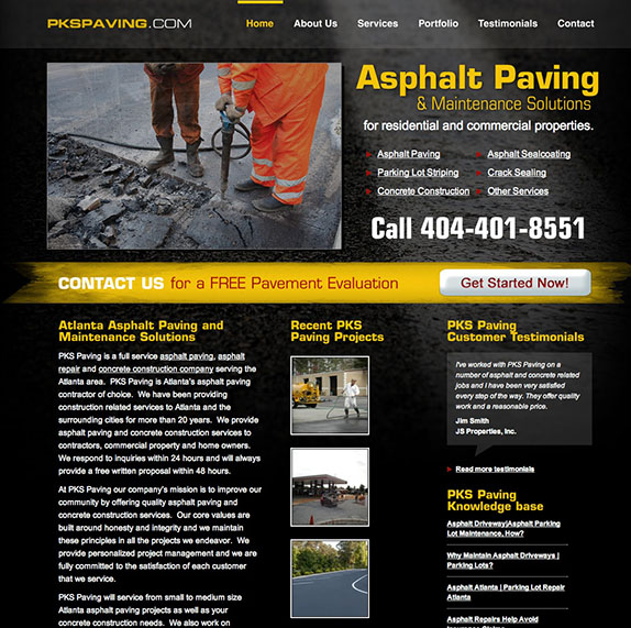 PKS Paving Homepage
