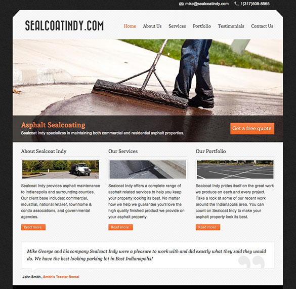 Sealcoat Indy Homepage