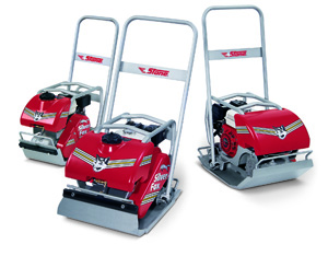 Foxy and Smart Stone Silver Fox Series of Forward Plate Compactors
