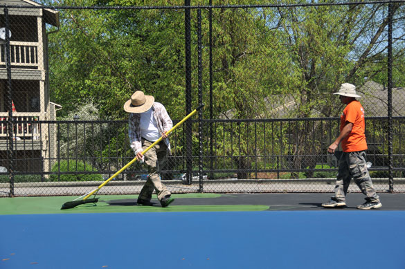 Tennis Court Applying Color