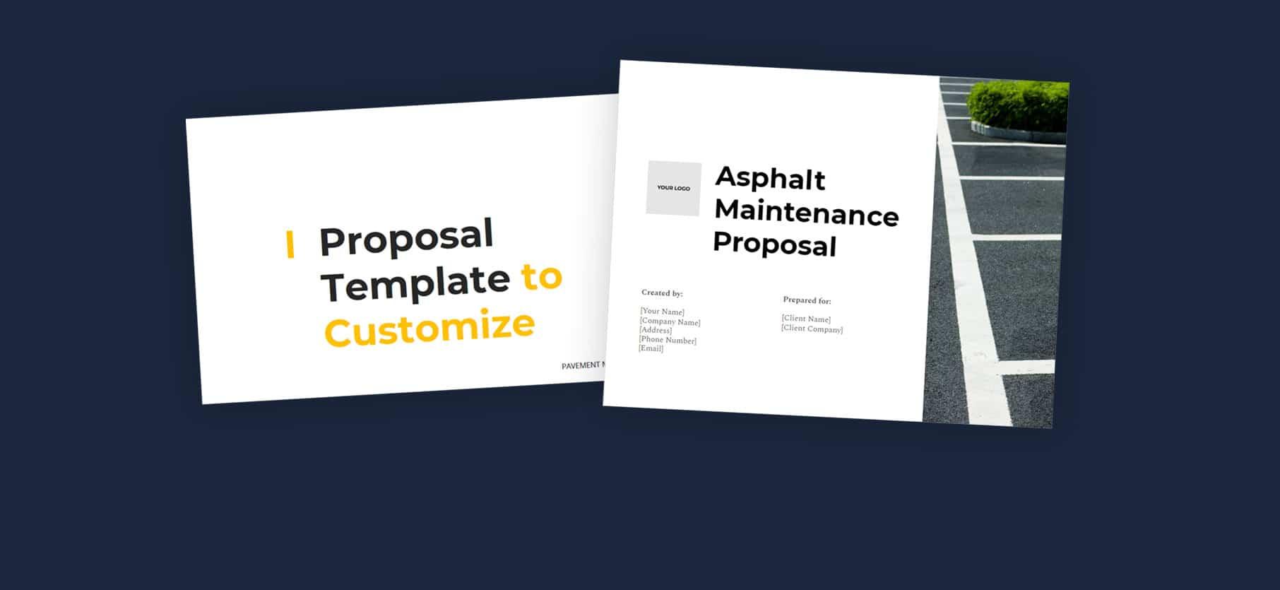 I Proposal Template to Customize for Asphalt Maintenance Proposal