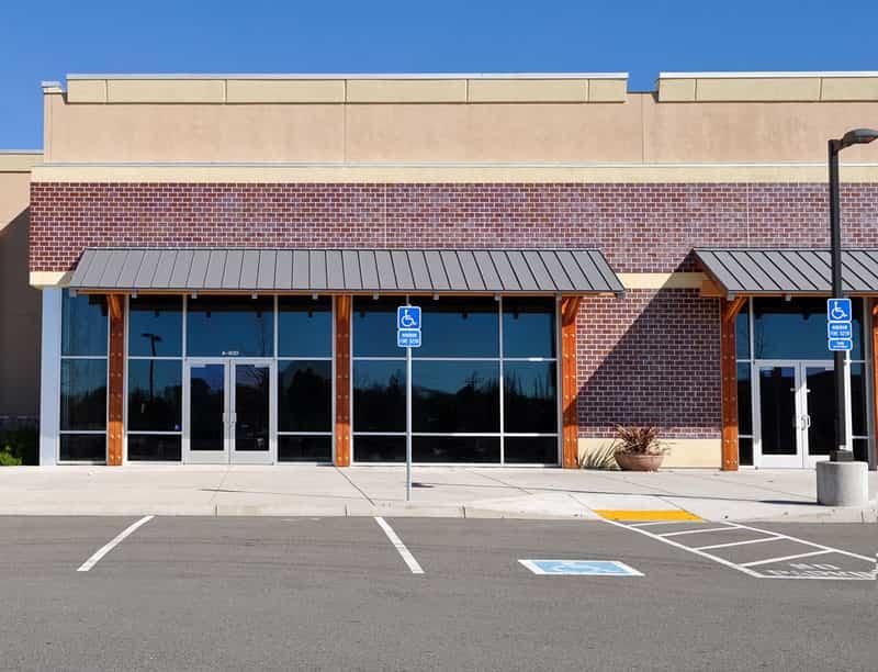 Acceisible Handicap Parking Area