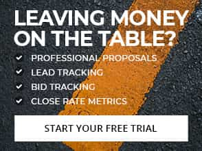 Leaving Money on the Table? Professional Proposal, Lead Tracking, Bid Tracking, Close Rate Metrics: Start your free trial
