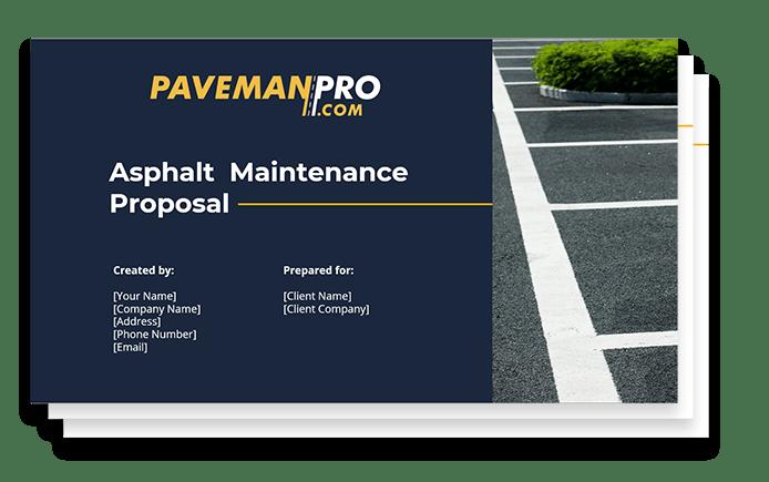 Paveman Pro Asphalt Maintenance Proposal Graphic