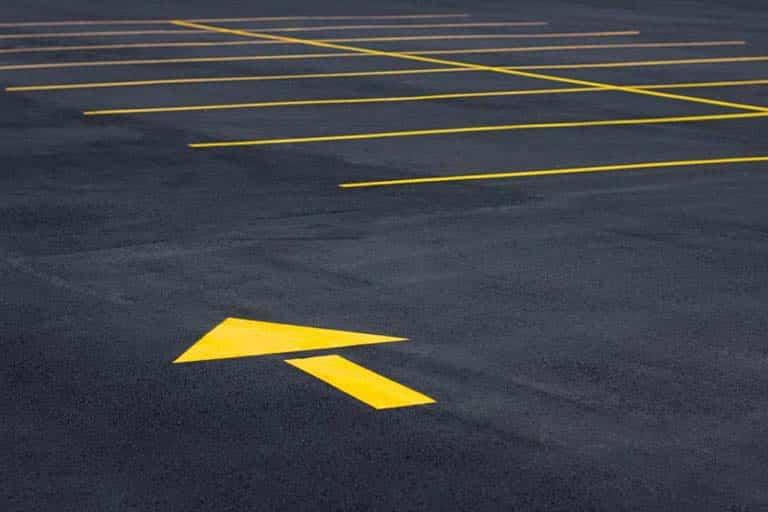 Freshly Paved Parking Lot